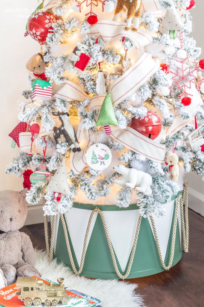 Diy Drum Christmas Tree Collar Sincerely Marie Designs