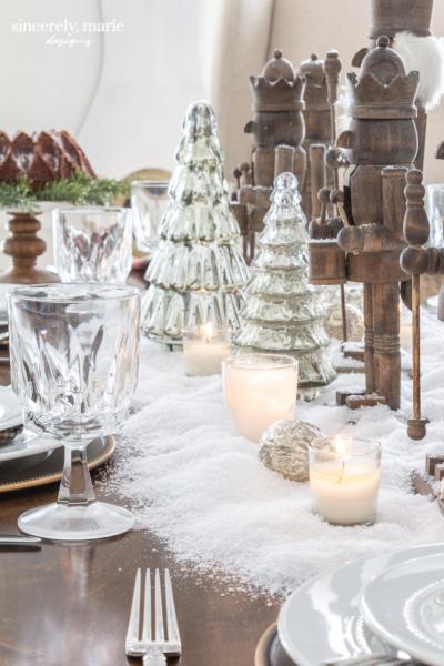 Snowy Nutcracker Tablescape