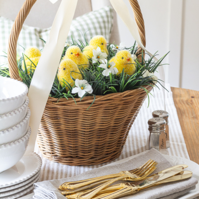 Easter Basket Centerpiece Two Ways
