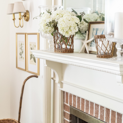 How To Create A Summer Mantel with Character