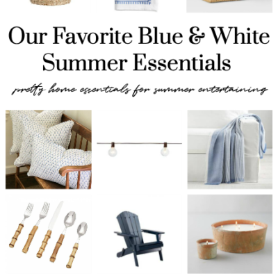 Our Favorite Blue & White Summer Decor Essentials