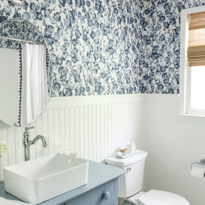 Our Cheery Blue Guest Bathroom Reveal
