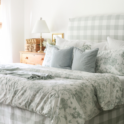 Quick Slipcover Solution For An Upholstered Headboard