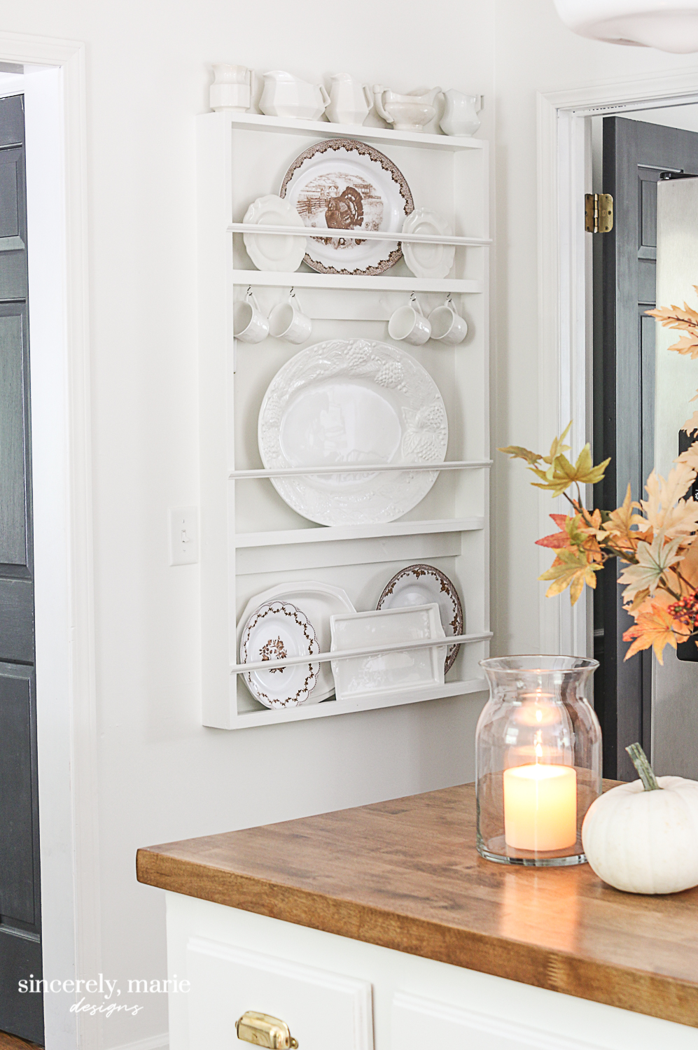 A New Plate Rack In The Kitchen Sincerely Marie Designs