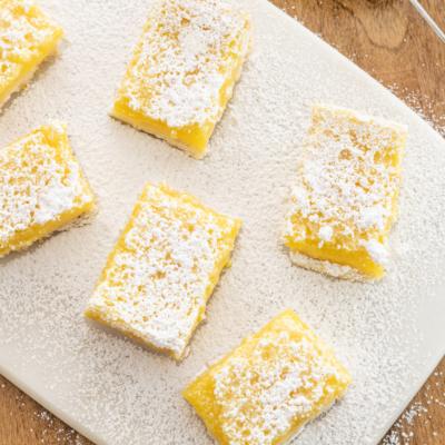 Homemade Lavender Lemon Bars