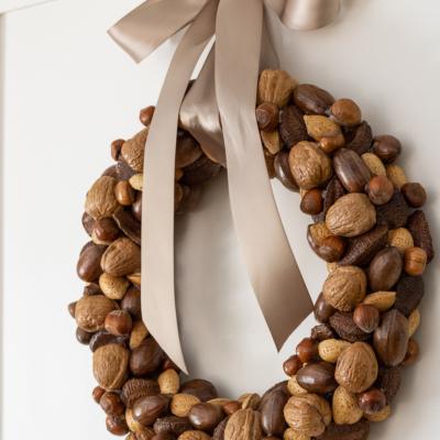 DIY Harvest Nut Wreath